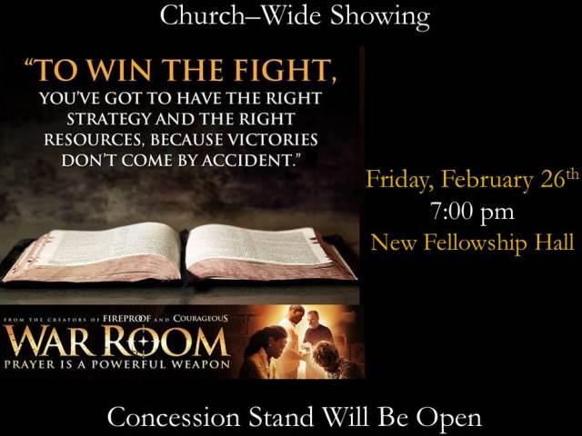 War Room movie showing